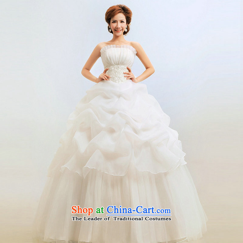 Yet, a new paragraph 2014 anointed chest Korean Princess graphics thin marriage wedding Korean wedding dress al00279 whiteL, yet a , , , shopping on the Internet