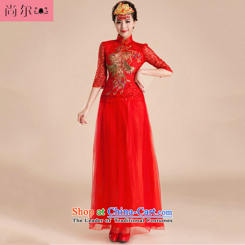 Yet, a new paragraph 2014 bows to marry retro dress bride wedding al00261 RED�M