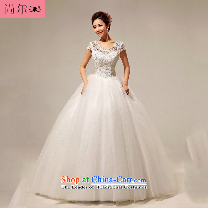 Yet, a new paragraph 2013 Korean word shoulder sweet lace princess sexy to align the wedding al00257 White�M
