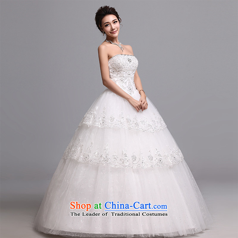 Hei Kaki wedding dresses 2015 new Korean wiping the chest to bind with marriages wedding J006 White�M
