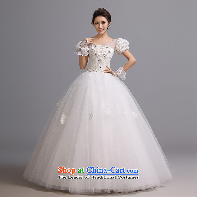 Hei Kaki wedding dresses 2015 new retro Princess Royal cuff straps bon bon petticoats bridal package shoulder wedding J005 white left tailored Size
