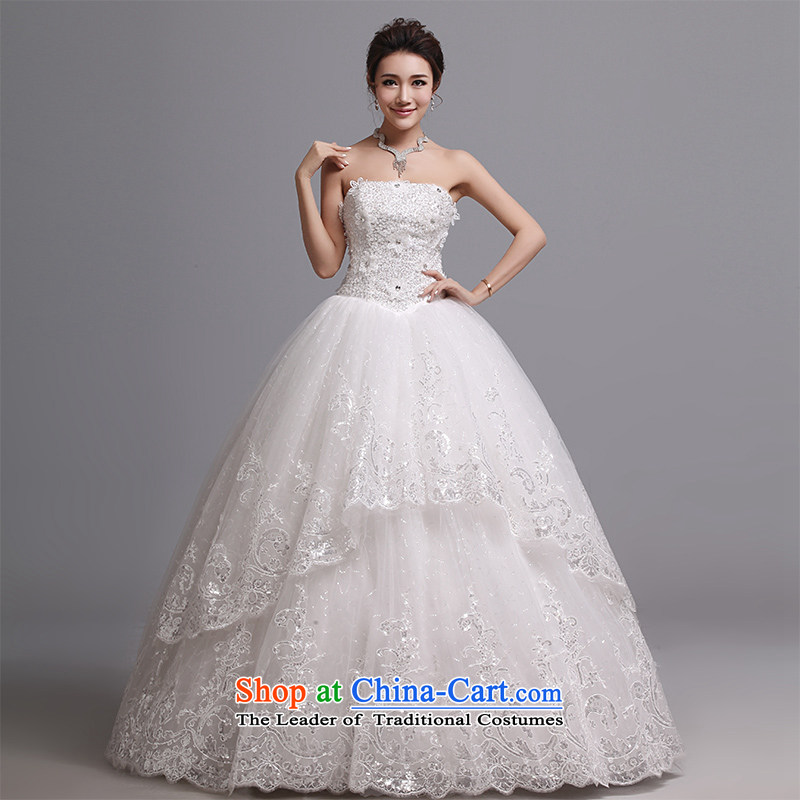Hei Kaki wedding dresses 2015 new Korean wiping the chest to bind with marriages wedding J010 White�XL