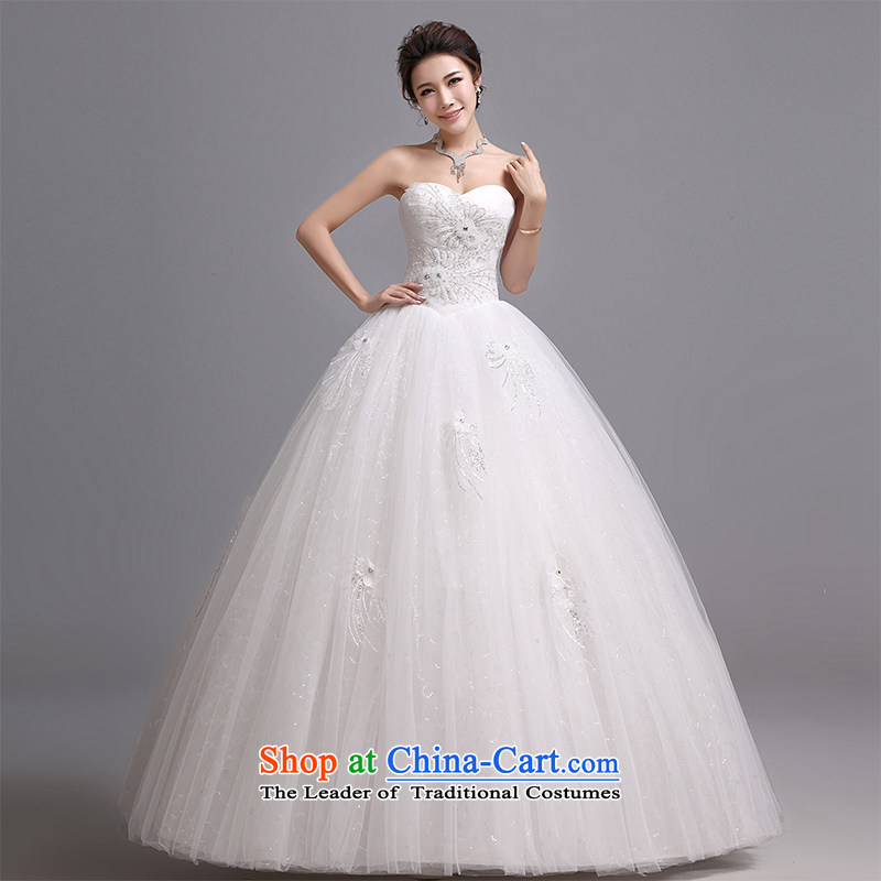 Hei Kaki wedding dresses 2015 new Korean wiping the chest to bind with marriages wedding J014 White?M