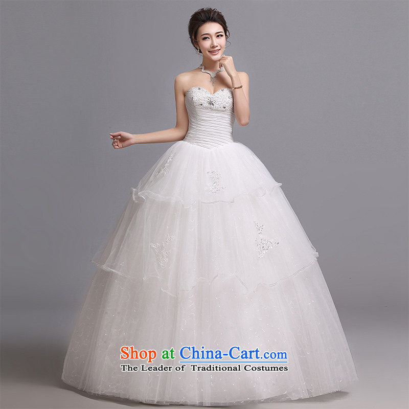 Hei Kaki wedding dresses 2015 new Korean wiping the chest to bind with marriages wedding J015 White�M