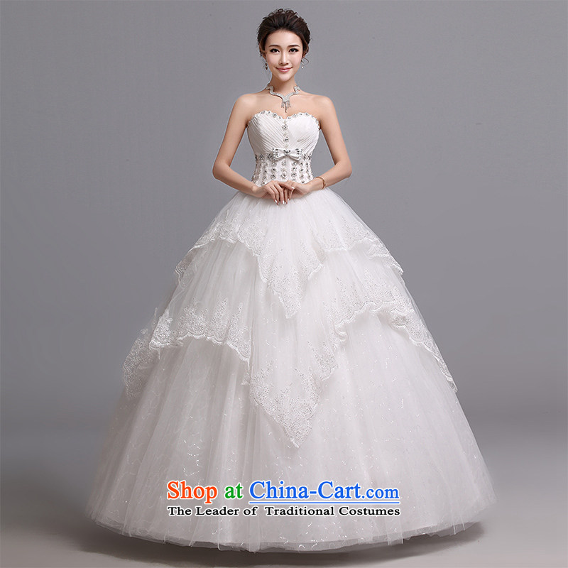 Hei Kaki wedding dresses 2015 new Korean wiping the chest to bind with marriages wedding J016 white left tailored Size