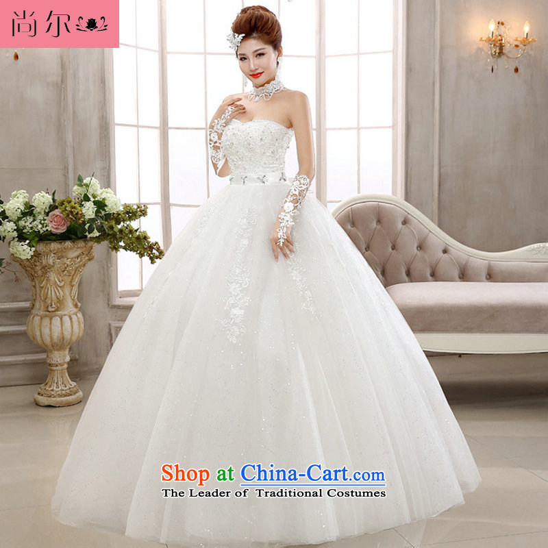 Naoji a 2014 new wedding dresses Top Loin of Korean lace anointed chest to graphics thin wedding al00305 White?M