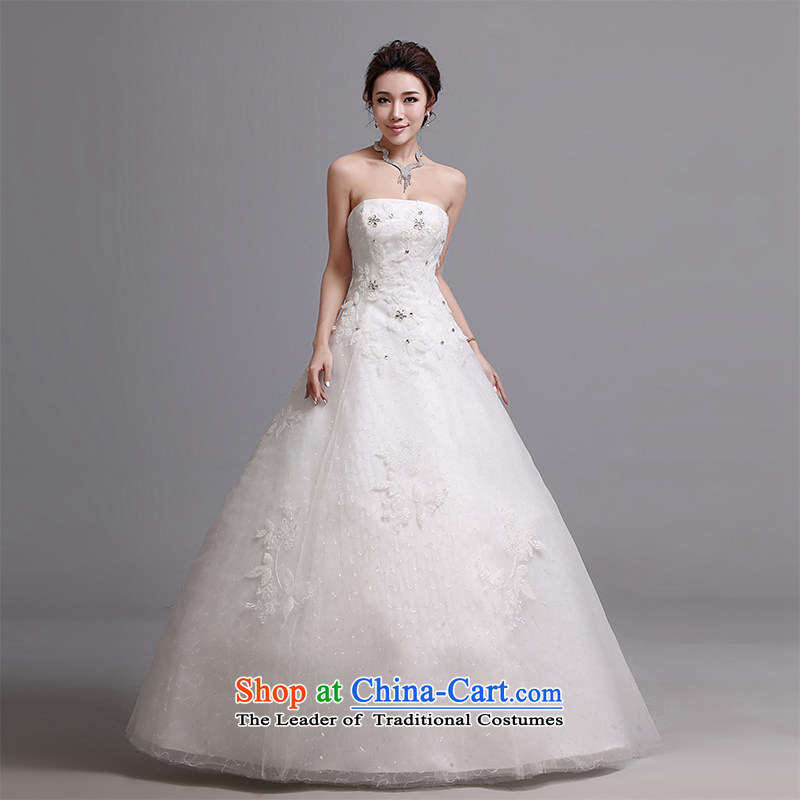 Hei Kaki wedding dresses 2015 autumn and winter new Korean wiping the chest to bind with marriages wedding J019 white�S