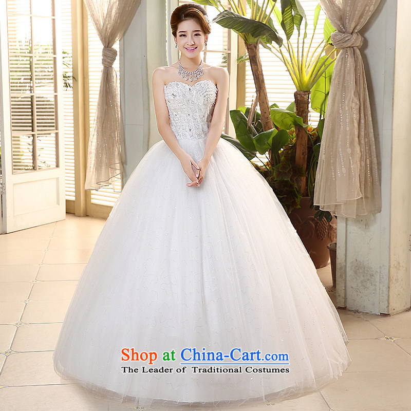 Hiv Miele wedding dresses 2015 new heart-shaped anointed chest Diamond Video thin white align Sau San to bride wedding?H-74?White?M Strap