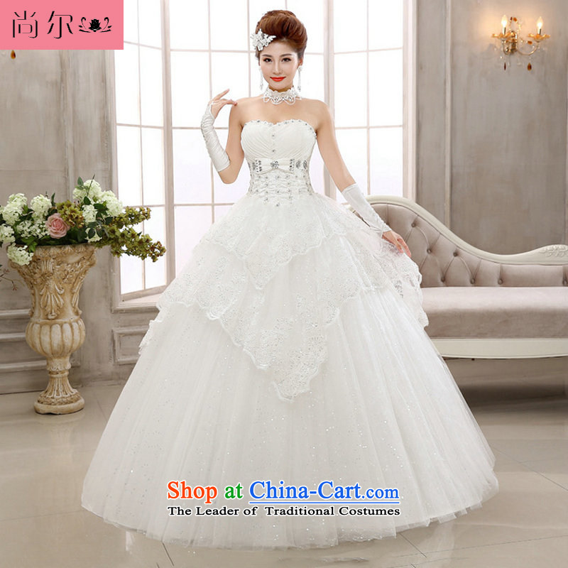 Yet, 14 new elegant cake layer petticoats alignment with chest wedding al00302 White聽M
