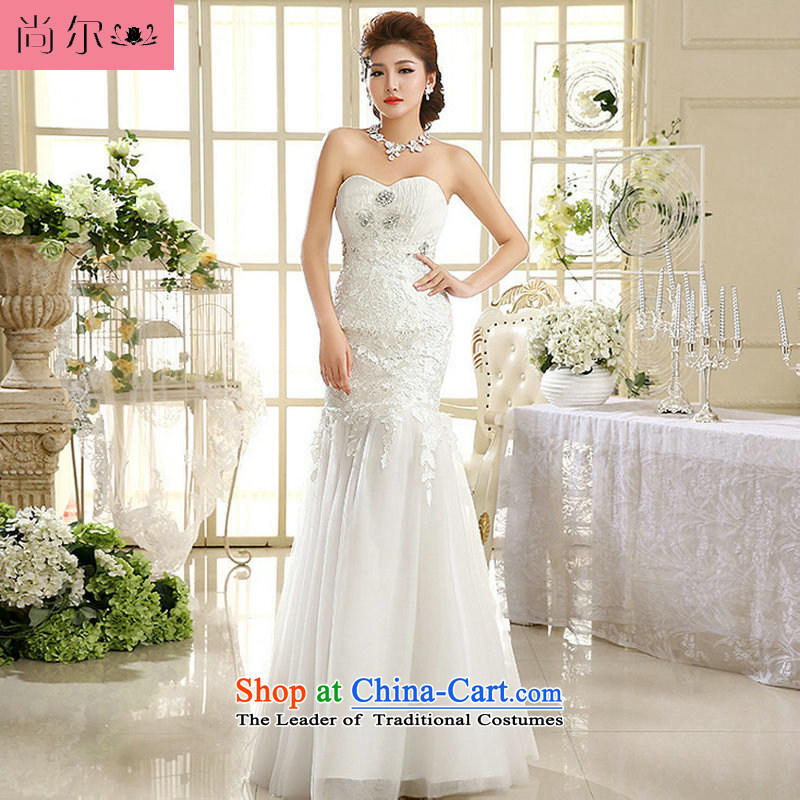 A new paragraph, yet stylish anointed chest lace crowsfoot alignment to wedding Korean Sau San video crowsfoot wedding al00301 thin White?XXL
