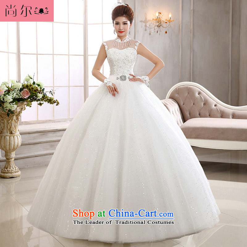 Naoji a new Korean 2014 lace a field shoulder wedding video thin marriages shoulders wedding al00300 White?M
