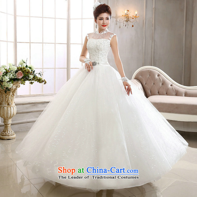 Naoji a new Korean 2014 lace a field shoulder wedding video thin marriages shoulders wedding al00300 White M naoji a , , , shopping on the Internet