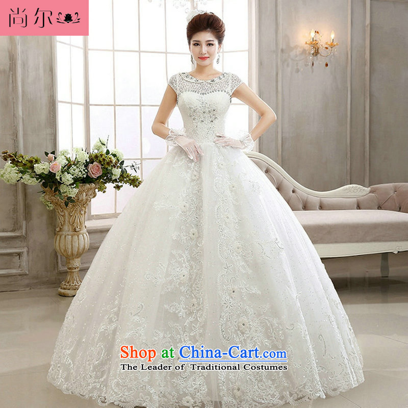 Naoji a new Korean 2014 bride white long-sleeved to align the lace wedding princess wedding al00299 sweet white?L