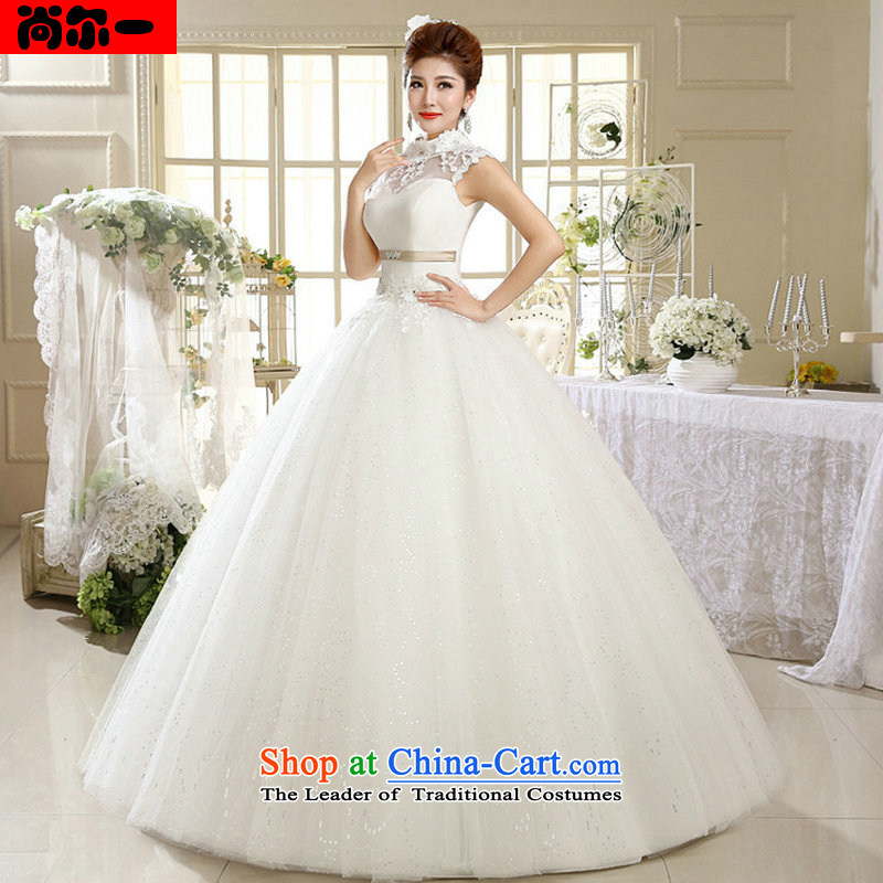 A 2014 Korea naoji version princess white lace retro to align the summer with collar wedding al00312 White?XXL