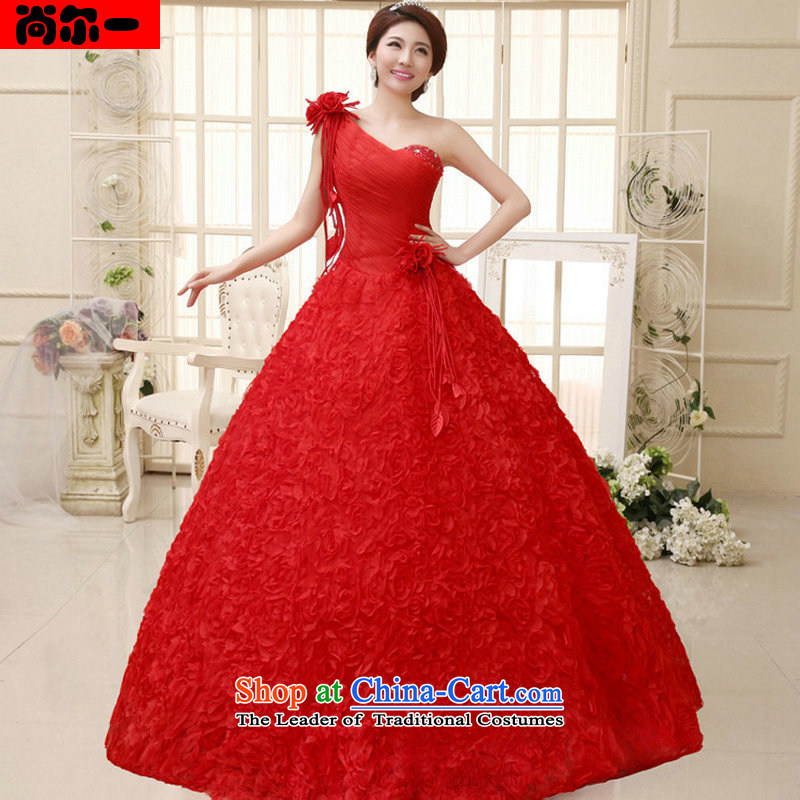 Naoji Korean brides a 2014 back straps then wedding dresses flowers new al00317 red?s