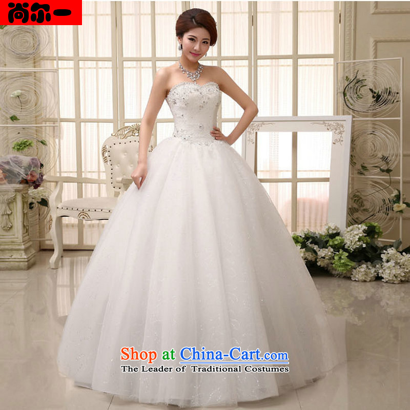 Naoji a summer 2014 women to align the new bride retro Korean light V-Neck wedding dress lace al00318) white?L