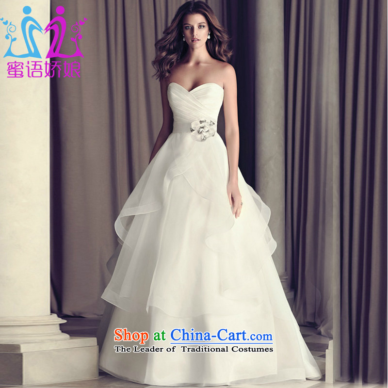 Talk to her? new 2015 wedding dresses western style high-end small trailing retro wiping the chest to bind with the white?M
