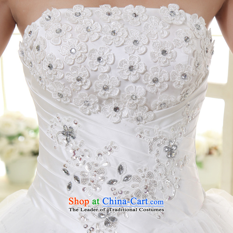 Talk to Her Wedding Dress 2015 new wiping the chest to marry the Princess Bride large elegant sweet Korean Bridal Suite white聽L, overture to Madame shopping on the Internet has been pressed.
