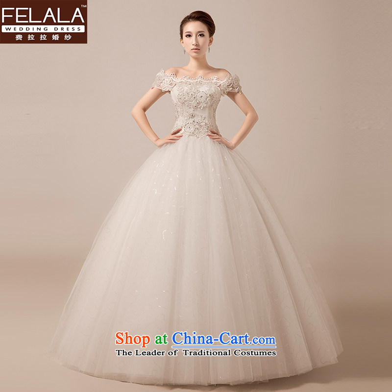 Ferrara New Word 2015 shoulder sweet elegant and chest straps diamond marriages wedding custom?XL(2 feet 2)