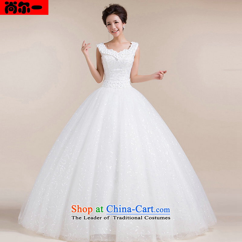 Naoji in the Korean version of the Snap To bon bon skirt retro bride wedding dresses of the waist stylish and simple wedding dresses XS1302 White?XXL