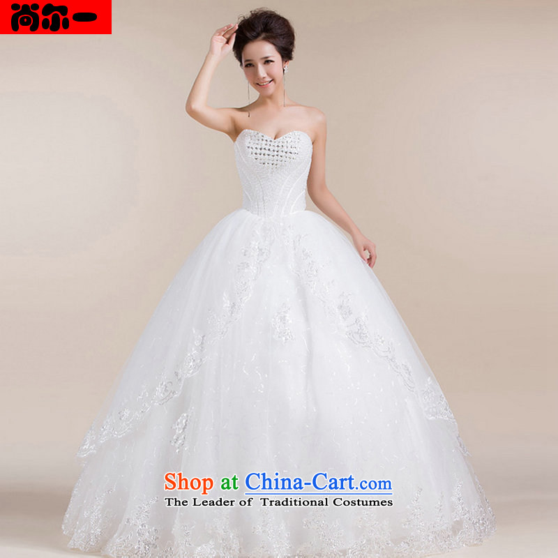 Yet, a wedding dress and bon bon long tail lights chest is a heart for marriages wedding dresses XS1306 White?XXL