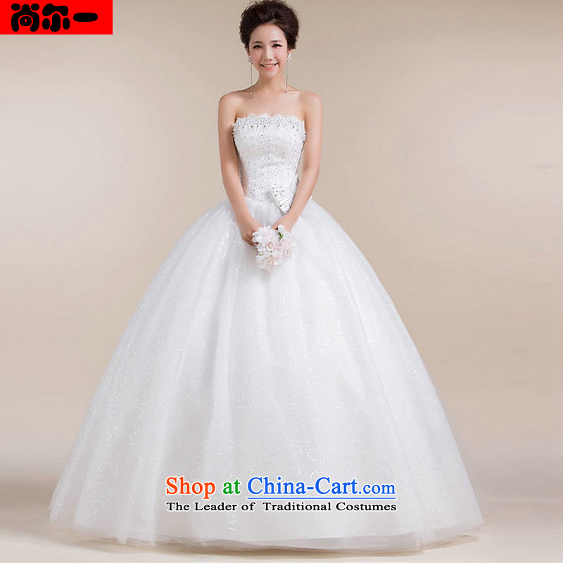 Yet, a chest bride wedding dresses to align the Korean version of the waist white marriage wedding XS1309 white?S