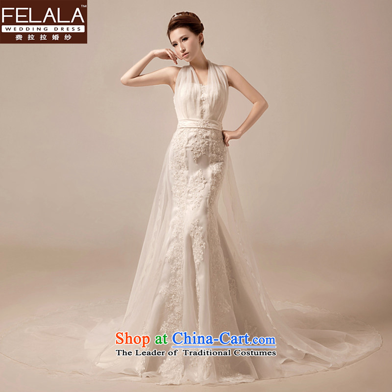 Ferrara new stylish Ms. wedding dresses also hang 2015 tail graphics thin bride crowsfoot lace wedding?M(2 feet)
