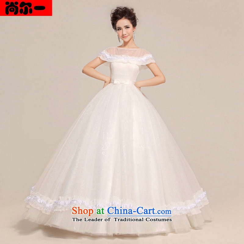 Yet a winter bride wedding new stylish Korean version of 2014 cuff lace retro large tie diamond shoulders thin white?L xs8703 graphics