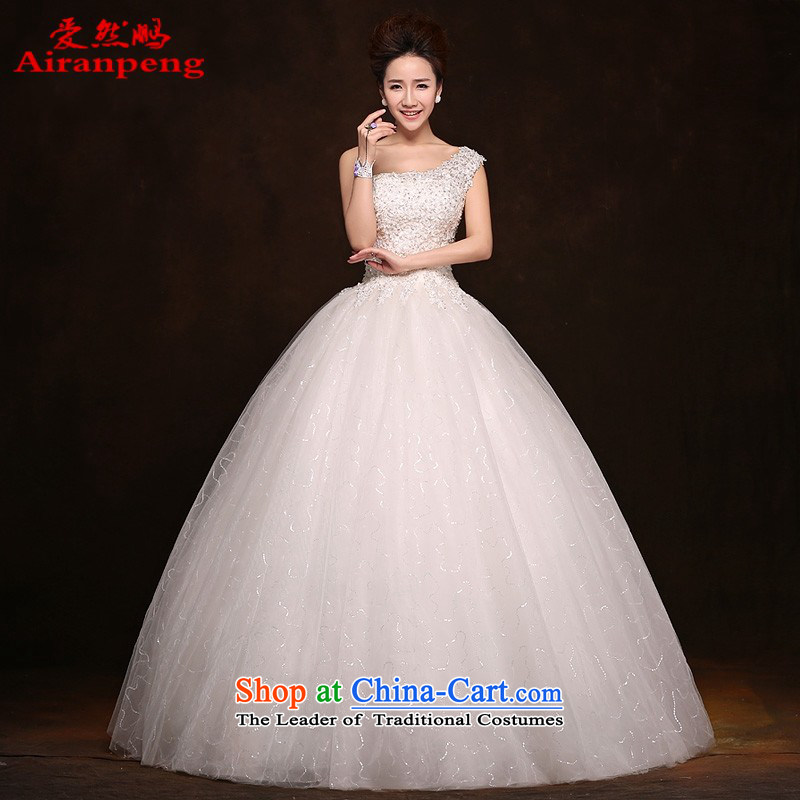 Love So Peng bride wedding dresses?2014 new Korean Edition click Align the shoulder to graphics thin diamond jewelry lace wedding customers to do not returning the size to