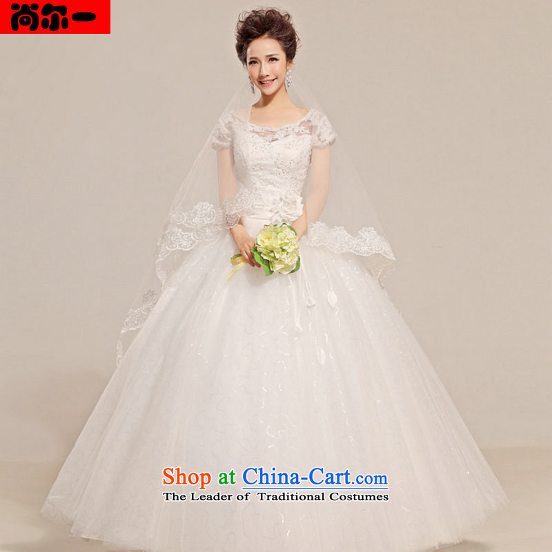 Yet, a new paragraph wedding dresses marriages shoulders retro lace a field to align the shoulder wedding XS1310 White?M