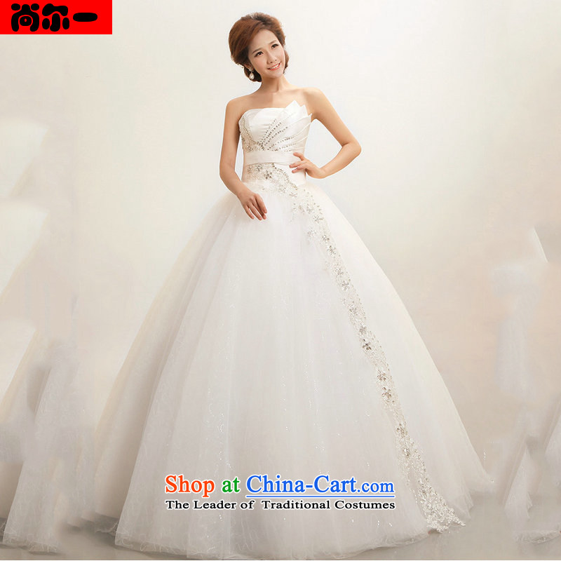 Yet, a new paragraph marriages Korean anointed Sau San chest wedding dresses and stylish straps to align XS1401) White?XXL