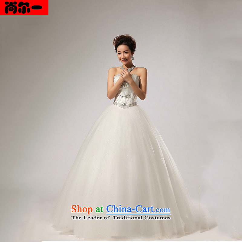 Yet, a new paragraph wedding Korean alignment with chest wedding dress bride bon bon skirt wedding xs1309 White?XXL