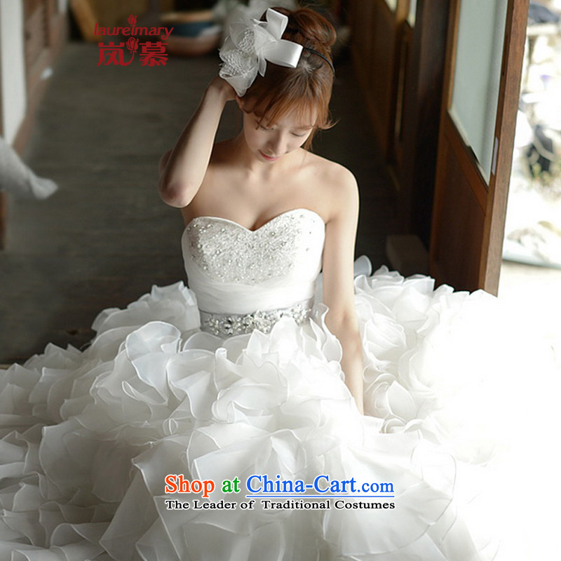 The sponsors of the 2015 New LAURELMARY, Korean antique chest and heart-shaped Stitch pearl Sau San Foutune of A swing gauze to align the edges wedding pure white Custom Size (please contact Customer Service)