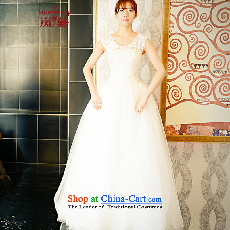 The sponsors of the 2014 New LAURELMARY, Korean fashion irrepressible shoulders lace Foutune of Sau San small to bind a swing alignment with bride wedding ivory Custom Size _please contact Customer Service_