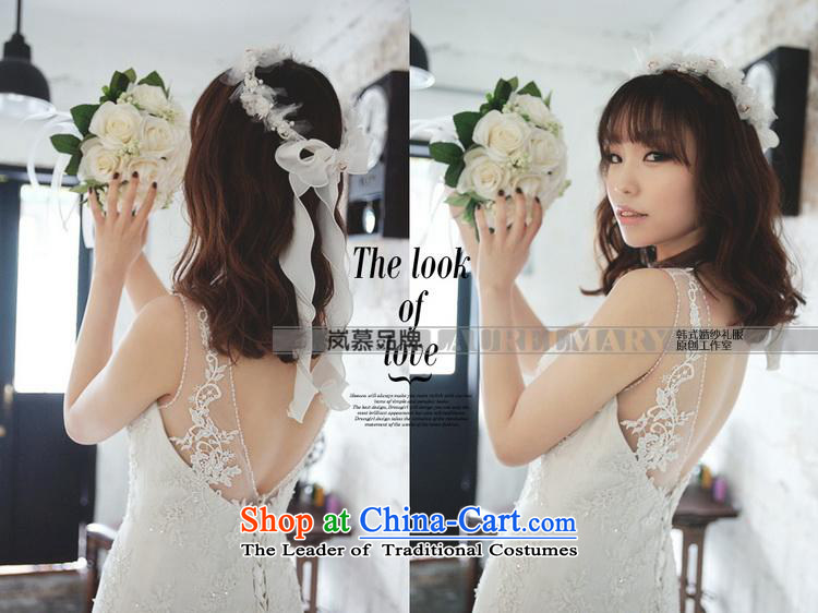 The sponsors of the 2015 New LAURELMARY, Korean elegant round-neck collar lace Foutune of Sau San package and to align the dream crowsfoot trailing back wedding pure white Custom Size (please contact Customer Service) Picture, prices, brand platters! The elections are supplied in the national character of distribution, so action, buy now enjoy more preferential! As soon as possible.