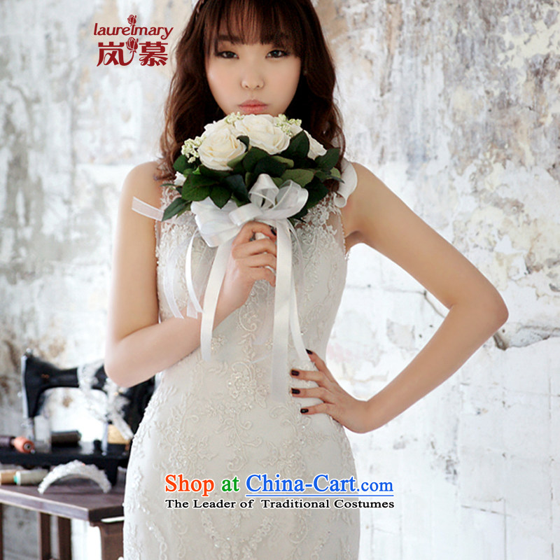 The sponsors of the 2015 New LAURELMARY, Korean elegant round-neck collar lace Foutune of Sau San package and to align the dream crowsfoot trailing back wedding pure white Custom Size (please contact Customer Service), included the , , , shopping on the I