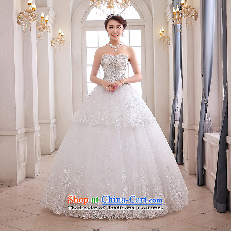 Hei Kaki wedding XS03 2015 new anointed chest Korean continental palace to align the strap wedding ivory left tailored Size