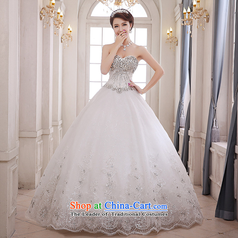 Hei Kaki wedding XS04 2015 new anointed chest Korean diamond jewelry and chest straps to wedding ivory聽XL