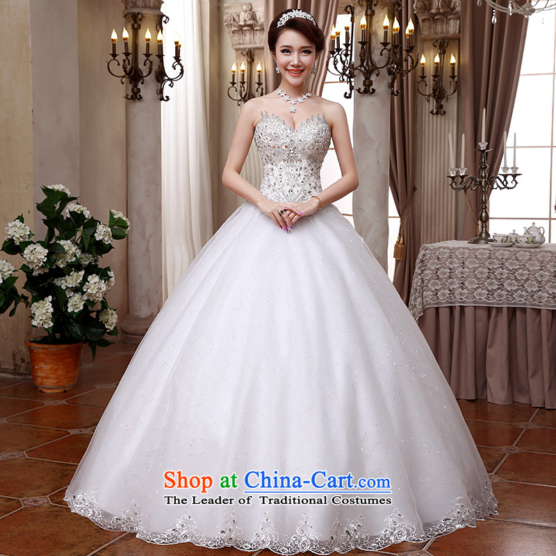 Hei Kaki wedding dresses 2015 new Korean anointed chest straps to align the Sau San Princess Bride wedding ivory聽XL