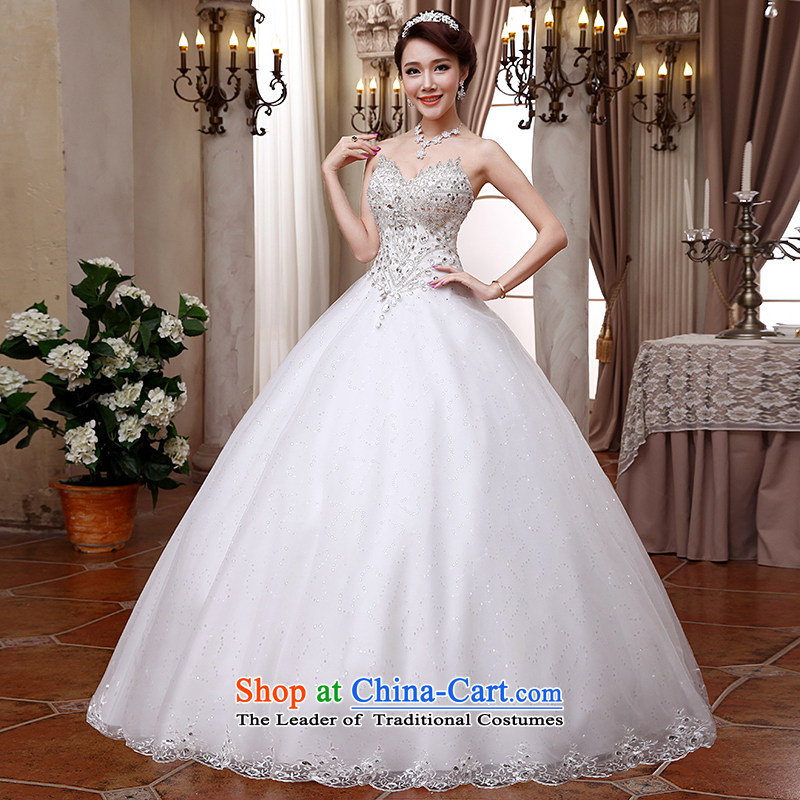 Hei Kaki wedding dresses 2015 new Korean anointed chest straps to align the Sau San Princess Bride wedding ivory聽XL, Hei Kaki shopping on the Internet has been pressed.