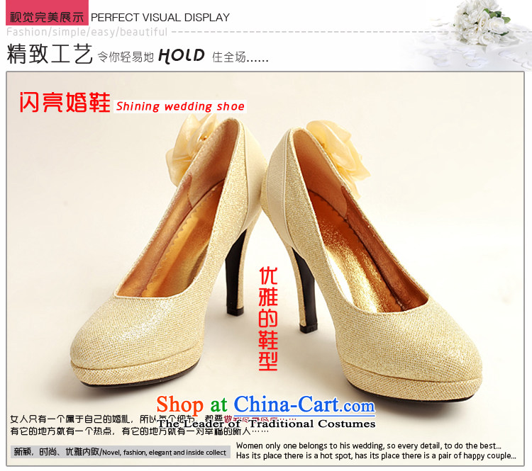 The Korean version of the flower Angel Román marriage shoes new women's 2014 high-heel shoes brides winter golden wedding shoes gold women married to apicture, 39 shoe price, brand platters! The elections are supplied in the national character of distribution, so action, buy now enjoy more preferential! As soon as possible.