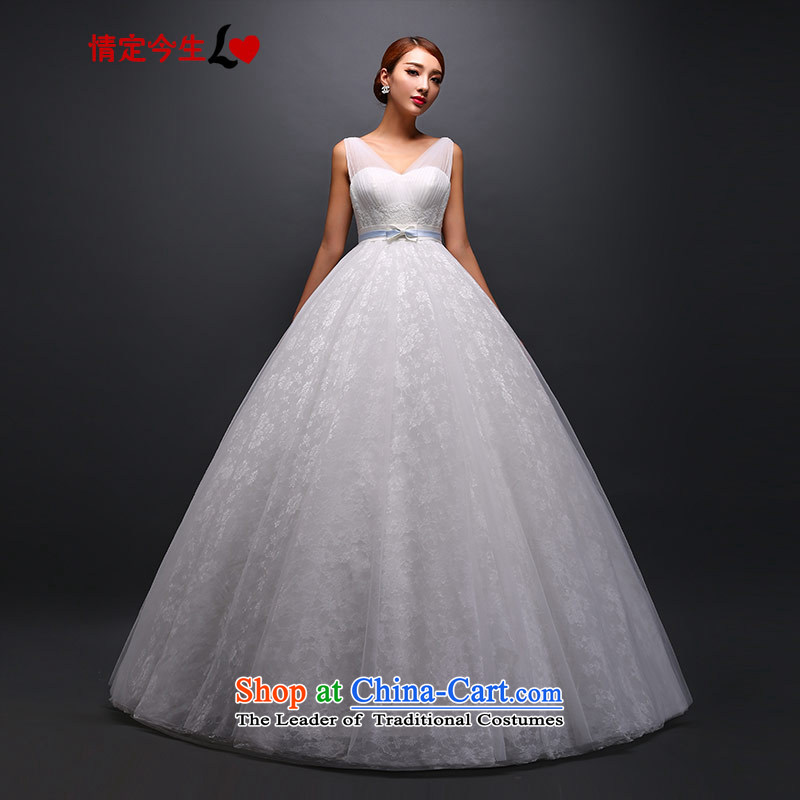 Love of the overcharged wedding dresses 2015 new Korean to align the word pregnant women lace shoulder spring shoulders white?L