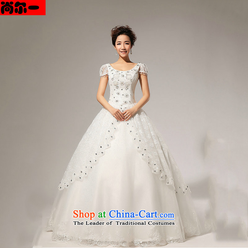 Yet, a new paragraph in Europe Royal Noble and elegant and chest straps, wedding dresses XS1311 white package?M