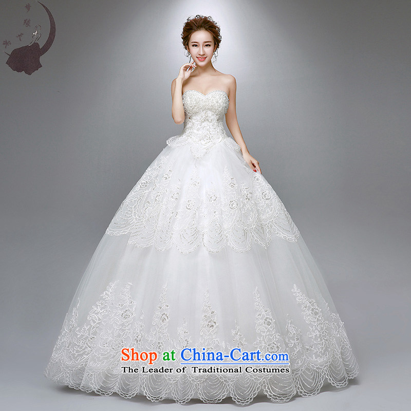 The leading edge of the days of the wedding dresses 2015 new Korean lace to align the wedding dress winter 1756?S 1.9 feet waistline White