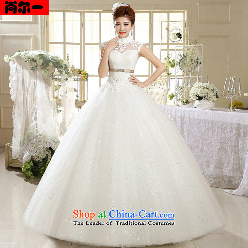Yet, a new paragraph Korean Princess white lace retro wedding xs1012 white聽L