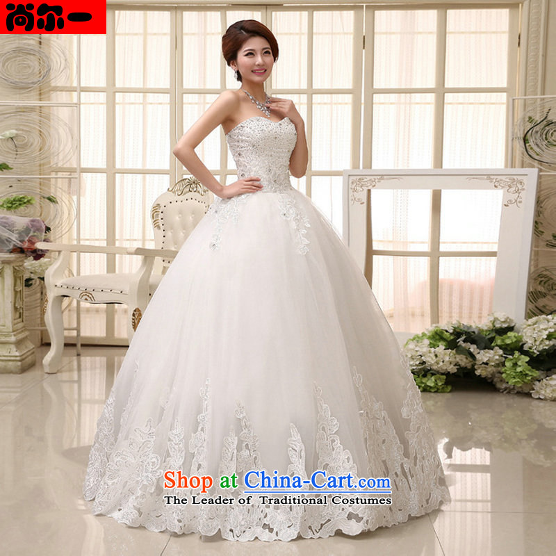 Yet, a new paragraph wedding dresses Korean Princess Bride sweet align with chest elegant straps xl wedding xs1019 white聽S