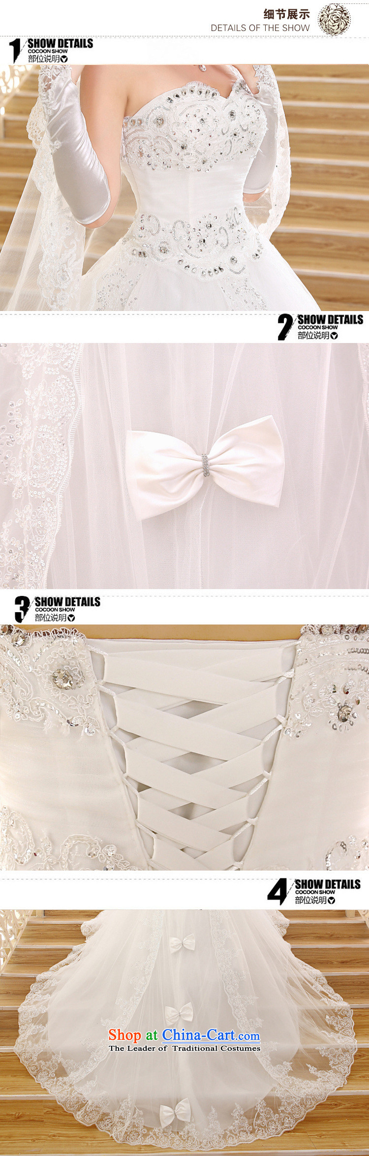 Yet, a wedding dresses new Korean long tail and chest lace tail xs1017 wedding聽pictures, price White XXL platters, brand! The elections are supplied in the national character of distribution, so action, buy now enjoy more preferential! As soon as possible.