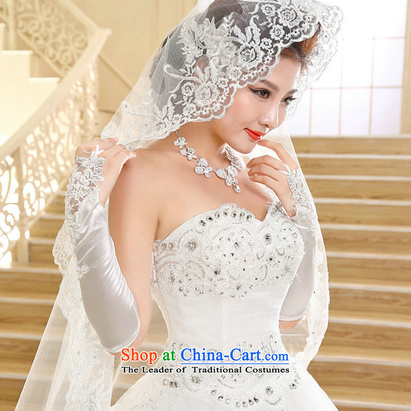 Yet, a wedding dresses new Korean long tail and chest lace tail wedding xs1017 white聽XXL, naoji a , , , shopping on the Internet