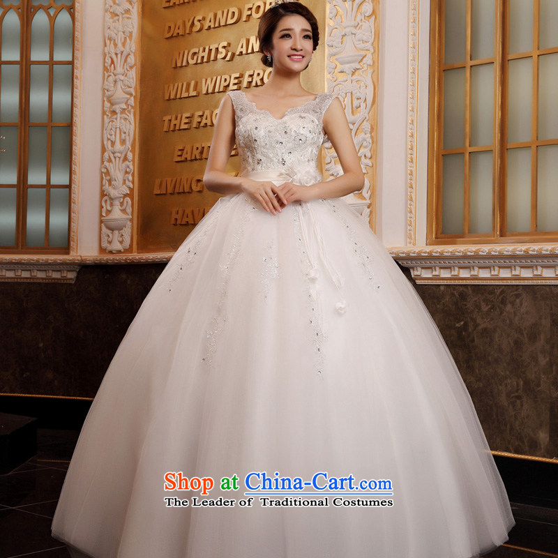 The privilege of serving-leung Korean brides wedding Top Loin of pregnant women wedding dresses 2015 new larger thick mm custom white聽4XL