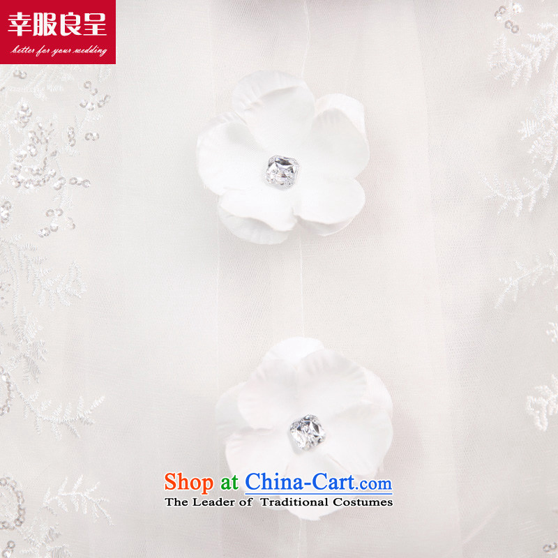 The privilege of serving-leung tail wedding dresses 2015 new marriages Korean sweet Princess Mary Magdalene Chest White - 5 day shipping XL-5 Day Shipping, as a service-leung , , , shopping on the Internet